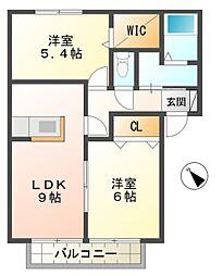 セントヒル竹元館B棟[1階]の間取り