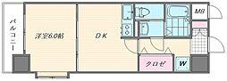 ピュアドームスタシオン箱崎[207号室]の間取り