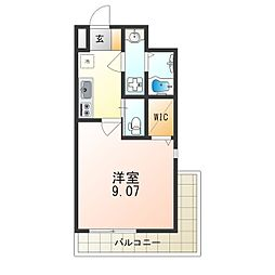 Osaka Metro御堂筋線 江坂駅 徒歩8分の賃貸マンション 4階1Kの間取り