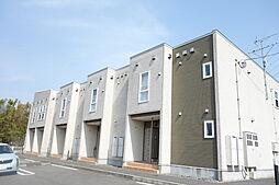 新潟県新発田市山崎の賃貸アパートの外観