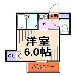 埼玉県川口市大字道合の賃貸アパートの間取り