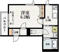(仮称)東十条3丁目メゾン 4階1Kの間取り