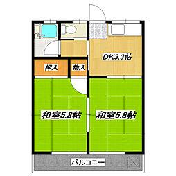 コーポ田辺[2階]の間取り