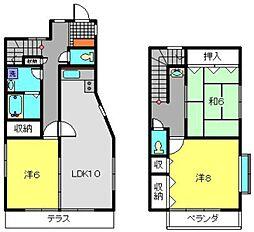 [一戸建] 神奈川県横浜市港南区上大岡東3丁目 の賃貸【/】の間取り