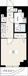 京成本線 千住大橋駅 徒歩3分の賃貸マンション 6階1Kの間取り