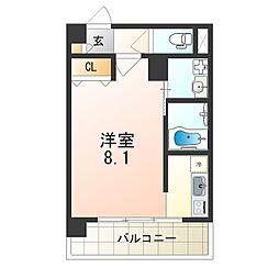 Osaka Metro四つ橋線 住之江公園駅 徒歩7分の賃貸マンション 2階1Kの間取り