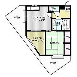 福岡県福岡市南区高宮4丁目の賃貸マンションの間取り