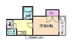 グラシアミノオ II号棟[3階]の間取り
