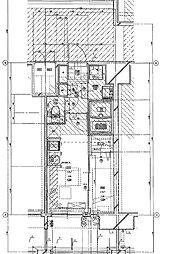 福岡市地下鉄七隈線 渡辺通駅 徒歩5分の賃貸マンション 5階1DKの間取り