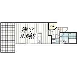 グランデュールSOGA[102号室]の間取り