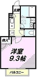 JR横浜線 片倉駅 徒歩3分の賃貸アパート 1階1Kの間取り