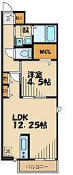 JR南武線 矢野口駅 徒歩6分の賃貸アパート 1階1LDKの間取り