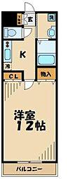東京都多摩市乞田の賃貸マンションの間取り