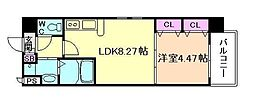 アーバネックス梅田東[6階]の間取り