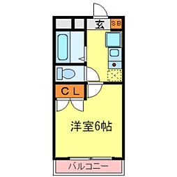 兵庫県伊丹市北河原4丁目の賃貸マンションの間取り