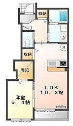 HOKUSAI HILLS 1階1LDKの間取り