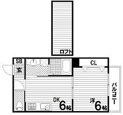 蓮宮リッチライフ[1階]の間取り