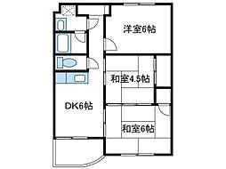 神奈川県座間市相武台2丁目の賃貸マンションの間取り