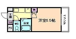 ドミール京町堀[3階]の間取り