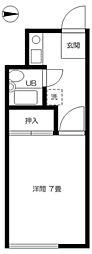 コーポ石井[1階]の間取り