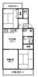 神奈川県川崎市宮前区有馬3丁目の賃貸マンションの間取り