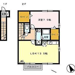 グランモア新豊 B棟[2階]の間取り