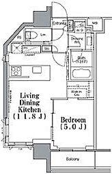 東京メトロ東西線 九段下駅 徒歩3分の賃貸マンション 2階1LDKの間取り
