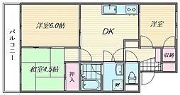 エメラルドマンション若宮[305号室]の間取り