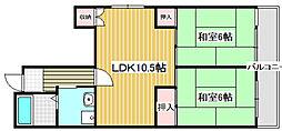 マンション辻田3階Fの間取り画像