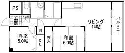 ピュア栗東[2階]の間取り