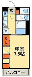 JR鹿児島本線 吉塚駅 徒歩9分の賃貸マンション 2階1Kの間取り