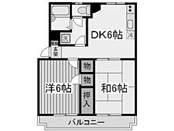 神奈川県川崎市多摩区菅北浦3丁目の賃貸マンションの間取り