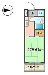 愛知県名古屋市千種区京命1丁目の賃貸マンションの間取り