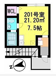 ラ・ヴィータ・フェリーチェ新鎌ヶ谷[2階]の間取り