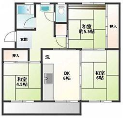 小川団地8号棟[4階]の間取り