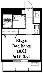 ノブレス横濱蒔田[103号室]の間取り
