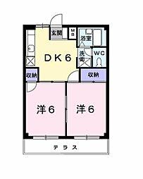 愛知県豊田市竹元町南嶋の賃貸アパートの間取り