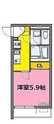 JR東北本線 東大宮駅 徒歩6分の賃貸マンション 1階1Kの間取り