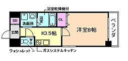 ロイヤルカーサ東天満[7階]の間取り