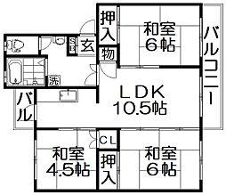 大阪府寝屋川市三井が丘5丁目の賃貸マンションの間取り