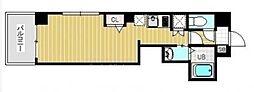 Regulus三ノ輪 3階ワンルームの間取り