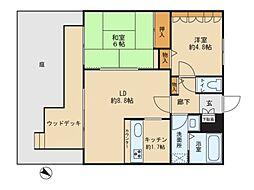 埼玉県さいたま市南区松本1丁目の賃貸マンションの間取り