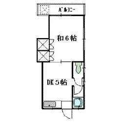 第2大穂荘[210号室]の間取り