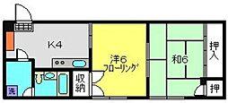 芥川ビル[305号室]の間取り