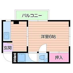 京橋クイーンハイツ[4階]の間取り