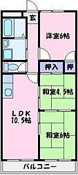 ヒカリハイツ・ドイ[3階]の間取り