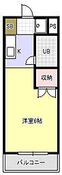 キャンパスシティー弥生[1階]の間取り
