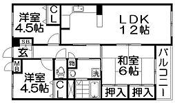 Garden Style光善寺[2階]の間取り