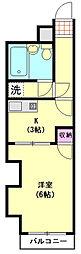 ライオンズマンション蒲田第2[505号室]の間取り