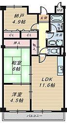 コンコードトキワ[3階]の間取り